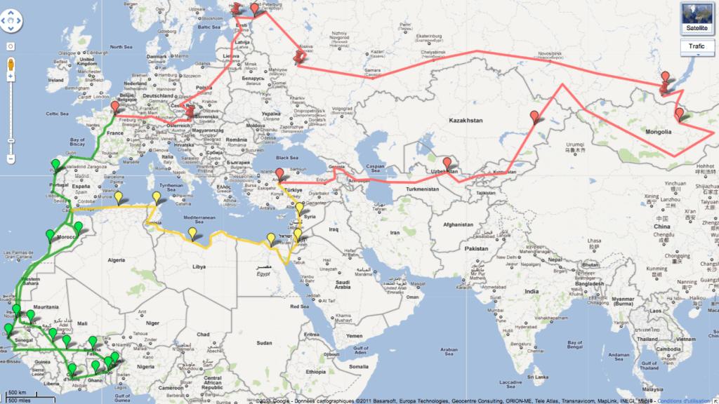 Le Gros Voyage 2012 : l'itinéraire…
