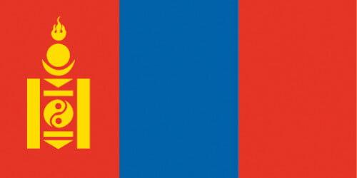 Le drapeau de la Mongolie