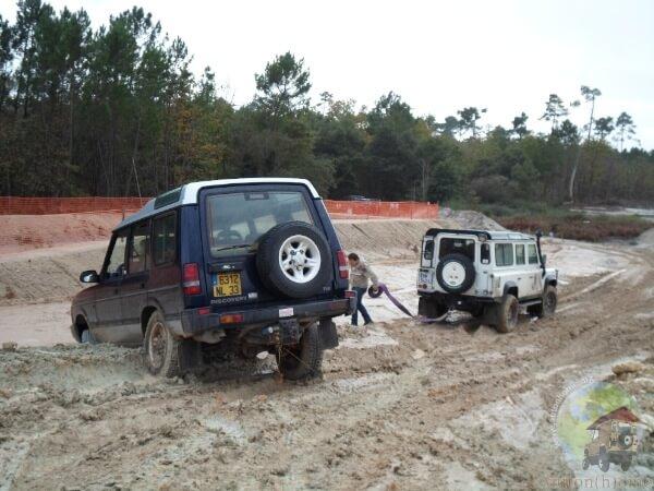 Un Land Rover Discovery posé
