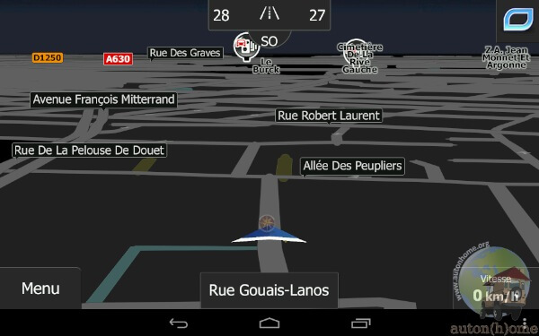Ecran de navigation Igo Primo